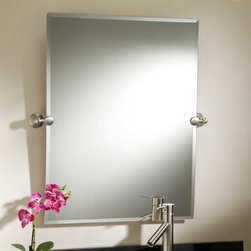 """32"""" Seattle Rectangular Tilting Mirror - Lean the sleekly styled 32"""" Seattle Rectangular Tilting Mirror up or down to reflect light in a room or accommodate people of different heights."""
