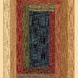 """Dynamic Rugs - Dynamic Rugs Yazd 7946-110 (Creme) 7'10"""" x 10'10"""" Rug - YAZD is a new collection of rugs in beautiful patterns and colorations. Included are traditional, semi-classic designs with primary colors of sage, champagne, taupe, navy, red, cream, black, and ivory, complimented with shades of brown and light blue. Dense weaving enhances pattern definition and design clarity. The YAZD Collection is densely woven on machine looms in Turkey with 100% high quality heat-set polypropylene pile that is anti-static and colorfast. These rugs have a delustered finish and are stain resistant, colorfast, durable and easy to maintain."""