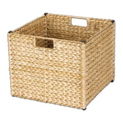 Household Essentials Banana Leaf Storage Bin - Natural - You won't need to worry about your home collapsing with a collapsible Household Essentials Banana Leaf Storage Bin - Natural. I know it sounds like we're exaggerating but this storage bin really holds everything together. The natural allure of woven banana leaf combines with sleek design for storage efficiency. Store linens or towels toys or books and when you don't need the basket it folds flat for easy storage. Wow a storage container capable of being stored. Have we stumbled upon the peak of basket engineering? We think so. And so will you.About Household Essentials.Household Essentials is a bold bright and innovative company working hard to bring you the foundations and modern innovations of laundry and storage essentials. Over 200 years of experience provide the company with the vision necessary for creating the perfect products for you and the credentials worthy of winning Cradle to Cradle's Silver Certification. Let Household Essentials accompany you into the future while offering you the means to have a wonderfully efficient home today.
