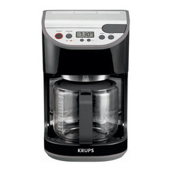 5.2 - Krups KM611850 12 Cup Precision Coffee Maker, Black - -12-cup glass carafe with black and stainless-steel finish