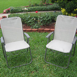 None - 'Victory Garden' Textweave Folding Outdoor Chairs (Set of 2) - Complete your patio decor with these 'Victory Garden' textweave chairsSet of two outdoor chairs fold for easy movement and storageTextweave lawn chair is lightweight and durable
