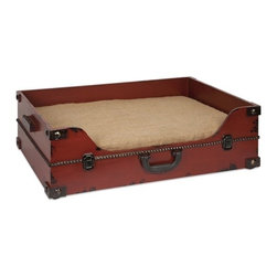 "IMAX - Benjamin Truck Pet Bed - This old world inspired trunk shaped pet bed is a must have for any pet owner. It's traditional look pairs well with any home and provides a comfortable place to rest. Item Dimensions: (20.25""h x 28""w x 8.25"")"