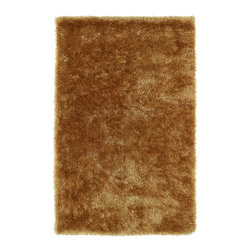 """Kaleen - Kaleen Posh Collection PSH01-05 2'3"""" x 8' Gold - Posh is the perfect rug to make your feet say ooh and ahhh!! Super plush and silky to the touch, this hot new shag rug is exactly what your room has been asking for! Find the perfect spot to curl up on after a long day or bring in your favorite pop of color for a complete room makeover. The Posh collection allows for diversity and fashionable style for all of your decorating needs with over 20 colors to choose from. Each rug is handmade in China of the finest 100% polyester."""