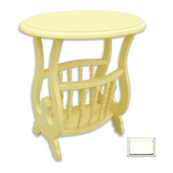 Tradewinds - Magazine Rack, White - You can now get rid of all those messed up magazines that are generally kept in a disordered way by everyone in your house. This aesthetically designed Oval Magazine Table will help you to resolve this problem. You can safely keep your entire range of magazines in an organized way in this table. It will serve you in reading the magazines as well by placing them on top of it. The structure is of solid hardwood that is made from plantation grown and kiln-dried mahogany and mindi as well as premium hardwood veneers. It is available in varied finish options from which you can select the suitable one for your interior decor.