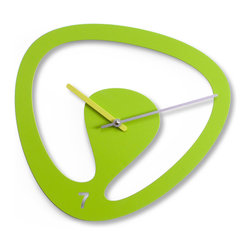 Progetti - Seven 2085 Green Wall Clock - Wall clock in painted steel. Battery quartz movement.