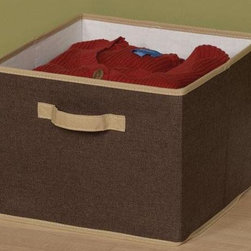 Home Decorators Collection - Open Storage Bin - This simple storage solution is perfect for keeping office supplies, crafting supplies, gloves, hats or other necessities neatly organized and tucked away for future use. To add to the convenient uses, this design folds flat for easy storage when not in use. Place your order today and get a head start on organizing your space. Crafted of durable materials for years of lasting use. Dual cloth handles provide easy access and portability.
