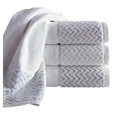 Luxor Linens - Vespucci Luxury Towel Set, 6-Piece, White - Extremely soft to the touch and alluring to the sight, this collection is a treat for your senses.