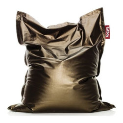 "Fatboy - Fatboy Metahlowski Bean Bag by Fatboy - Cozy up to valuable gold, silver and bronze with the Fatboy Metahlowski Bean Bag. Made of quality Italian fabric and filled with 100% recyclable and CFK free polystyrene beads, the Metahlowski Bean Bag is the answer to luxurious comfort. Designed by Finnish designer Jukka Setala for the bedroom, dorm, living room and more. In 1988, Dutch designer Jukka Setala came up with an ingenious way to make the bean bag chair much more luxurious, durable and adaptable than its 1970s ancestor. Fast forward to 2002, when Alex Bergman adopted Setala's idea of the modern lounge chair and launched ""Fatboy the Original."" Fatboy now offers a range of fun and functional modern accessories and pet beds."
