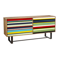 French Heritage - Pompidou Commode - This fun, four-drawer dresser can liven up your boring bedroom and your life. Once you choose this colorfully striped number, you're going to want to find other ways to awaken the color throughout your whole home.