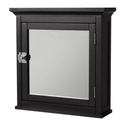 Elegant Home Fashions - Madison Avenue Medicine Cabinet - The Madison Avenue Medicine Cabinet from Elegant Home Fashions has an elegant crown molded top with a mirrored door that offers storage with style for your bathroom.  It is also very functional with one adjustable interior shelf.   The cabinet features chrome finished knobs for easy opening. This cabinet comes with assembly hardware.