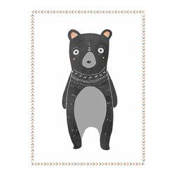 Rebecca Peragine Inc / Children Inspire Design - Boho Bear 18x24 Children's Wall Art Poster - 18x24 Wall Art Poster
