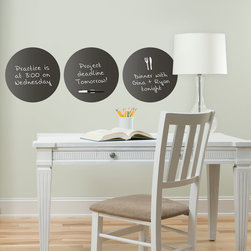 Back to School 2014 - Trendy and chic office decor idea with black dry-erase message dots. Would look great in a dorm room or teen decor as well