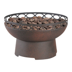 None - Constentino 50,000 BTU Steel Fire Pit - The Cosentino Fire Pit makes an everyone's welcome statement in any outdoor setting. Make your outdoor living area the go-to place for family and friends.