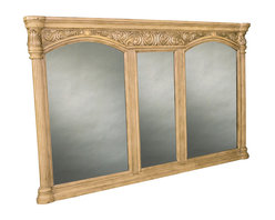 Ambella Home - Provincial Grand Mirror - Light - This is really a GRAND mirror. It's meant for your bathroom but being typically French, it can go anywhere and look good. It could take over a wall in your dining room, looking important and showcasing your good taste. It could go in your bedroom with a ditto on the good taste thing. Or you could just ask it?