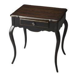 "Butler Specialty - Butler Helene Cafe Nouveau Accent Table - Butler Helene Cafe Nouveau Accent Table poplar solids, cherry veneer, MDF 24""W x 18""D x 26.5""H"