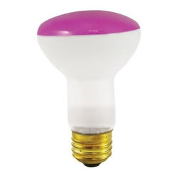 Bulbrite - Reflector Incandescent Bulbs in Pink Shade - One pack of 12 Bulbs. 120V E26 intermediate base bulb. 360 degrees beam spread. Long life. Colored reflectors add a festive and fun touch to any application. Ideal for indoor residential and commercial use lighting. Perfect for recessed cans, sign, display, track applications. Dimmable. Average hours: 2000. Color rendering index: 100. Wattage: 50 watt. Maximum overall length: 4 in.