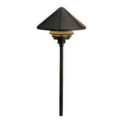 Kichler Lighting - Kichler Lighting 15211BKT Six Groove Black Landscape Path Light - Kichler Lighting 15211BKT Six Groove Black Landscape Path Light