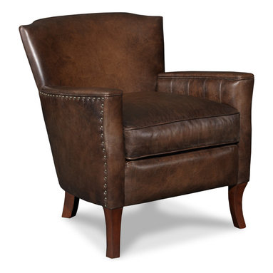 Hooker - Seven Seas Seating Inscription Art Club Chair in Dark Walnut - Seven Seas Seating specializes in recliners and accent chairs for the living room and office. Chairs are primarily made with rich, soft leather but there's also a nice selection of fabrics and fabric/leather combinations. Each chair or sofa by Seven Seas Seating is hand-crafted by world-class furniture producers working to rigorous standards mandated by Seven Seas.