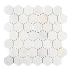 Carrara White Hexagon Marble Mosaic -