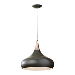 Murray Feiss - 1 Bulb Dark Bronze Chandelier - - cUL Dry Approved.