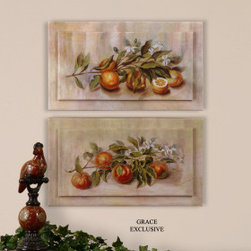 "34015 Outdoor Fruit Panels, Set/2 by uttermost - Get 10% discount on your first order. Coupon code: ""houzz"". Order today."