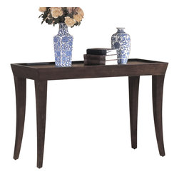 Homelegance - Homelegance Zen Rectangular Sofa Table in Espresso - This great contemporary 3-Piece occasional group features a tray top design in espresso finish.