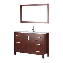 Adornus - Adornus AMADIS-48-C-C Chestnut Vanity - * Floor standing, all Wood Vanity.