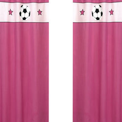 Pink Soccer Window Panels (Set of 2)