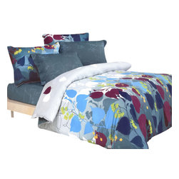 Blancho Bedding - Blancho Bedding - Grapevine Leisure 100% Cotton 3PC Sheet set  Twin Size - Three-piece set for Twin size (consisting of a pillowcase, a fitted sheet and a flat sheet)