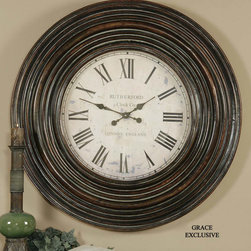 "6726 Trudy, Clock by Uttermost - Get 10% discount on your first order. Coupon code: ""houzz"". Order today."