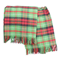 Happy Blanket - 100% Pure New Merino Wool Plaid , Mar5077 - Wool is a natural temperature regulator, naturally hypoallergenic, naturally breathable and even improves sleep quality.