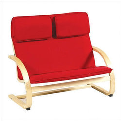 Guidecraft Red Kiddie Couch - Double wide for double the fun, this kiddie couch is both light and sturdy. Easy to move from room to room, and cushy enough to cuddle into, this is a modern marvel for your playroom. And i