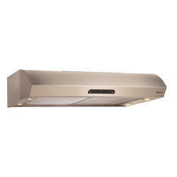 Broan - Broan QP136 Series Under Cabinet Range Hood - The Evolution Series of Broan range hoods has a contemporary style and sleek appearance that will complement any kitchen design. Easy to clean, brilliant lighting and quiet operation result in the perfect marriage of functionality.