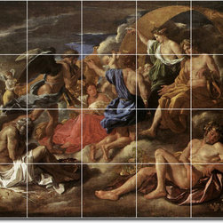 Picture-Tiles, LLC - Helios And Phaeton With Saturn And The Four Seasons Tile Mural By Nich - * MURAL SIZE: 24x30 inch tile mural using (20) 6x6 ceramic tiles-satin finish.