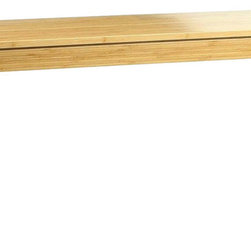 """Bamboogle - Bamboogle  45-1648  Brazil Bamboo Bench  48""""x16""""x18"""", Honey - The Bamboogle Brazil Collection is a very affordable and excellent value for solid hard wood furniture being partially handmade, using an environmentally earth friendly species of bamboo that is as hard as oak with modern, simple, sophisticated lines for accent occasional tables and great for small furniture needs in any home, apartment or condo and for any kitchen, living room, entry, hallway, bedroom and den or bar. Our Bamboo 'Brazil' Bench from Bamboogle is versatile in so many ways. As a bench it can provide plenty of seating at a dining table or as an accessory piece in any room for added storage as well as a place to sit. It can also be used as a coffee table in a space that has width limitations.  This Bamboo bench/table insures that you're purchasing an item with special qualities hidden inside.  It is machine tooled by hand, and made of solid bamboo with no veneers, filler wood, or particle board.  It's all bamboo, which is one of Earth's truly plentiful and sustainable resources.  The clean lines of this piece, the slightly tapered legs, floating top design and the intricate laminations of bamboo work together to give a stylish and modern look that works in both traditional and contemporary settings.  Bamboo is a good source for furniture as it is 15% harder than maple which ensures long lasting beauty and strength.  If it's a beautiful piece of handmade-hand tooled furniture that you are after, then you have it here.  If you want to do your small part in following the trend toward environmental sensitivity, the story gets better. Bamboo is a remarkable natural resource for several reasons.  It grows in vast densely packed forests and must be harvested to keep the trees from overcrowding.  Our bamboo comes out of the ground 8'-10' in diameter and grows 2-3 feet per day for thirty days until it reaches nearly 100 feet in height.  This tremendous growth consumes massive amounts of the"""