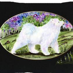 Caroline's Treasures - Samoyed Fabric Standard Pillowcase Moisture Wicking Material - Standard White on back with artwork on the front of the pillowcase, 20.5 in w x 30 in. Nice jersy knit Moisture wicking material that wicks the moisture away from the head like a sports fabric (similar to Nike or Under Armour), breathable performance fabric makes for a nice sleeping experience and shows quality. Wash cold and dry medium. Fabric even gets softer as you wash it. No ironing required.