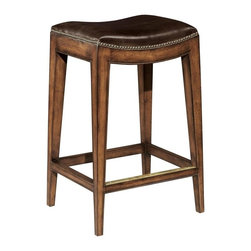EuroLux Home - New  Counter Stool Brown Leather - Product Details
