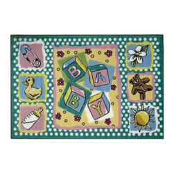 "Fun Rugs - Building Blocks Jade Reynolds Collection Rug - 39"" x 58"" - This colorful rug has building blocks design Collection Name: Jade Reynolds; 100% Nylon Dimensions: 39"" x 58"""