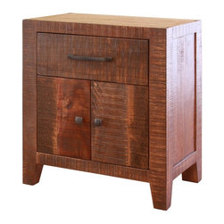 International Furniture Direct LLC - Montecarlo 1 Drawer Nightstand with 2 Doors - Chocolate Multicolor - IFD770NTST - Shop for Nightstands from Hayneedle.com! Smooth clean lines grace the Montecarlo 1 Drawer Nightstand with 2 Doors Chocolate in contemporary style. Featuring a solid wood construction this charming nightstand offers optimum bedside storage with one top drawer and one large storage space behind two cabinet doors. Solid cast iron pulls embellish each door and drawer. Lined with microfiber the top drawer of this nightstand offers ample space for storing electronic cords accessories books and journals. Completing the look of this nightstand is its distressed chocolate finish.About Artisan Home Furniture/International Furniture DirectInternational Furniture Direct has been making fine furniture for discerning home consumers since 2000. Over the years International Furniture has grown to be an important supplier of bedroom furniture occasional tables dining room furniture wall units entertainment centers barstools and more. In 2009 the company brought all of their furniture lines under the name Artisan Home Furniture. Their designs focus on functional lifestyle collections built with upscale construction techniques.