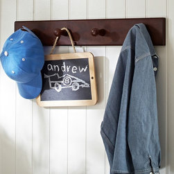 Hayden Espresso Peg Rack - Peg hooks are perfect for hanging hats, bags and coats.