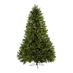 Nearly Natural - 90 in. Royal Grand Christmas Tree - Includes eight hundred clear lights. Metal base. Perfect for holiday season. Trunk type: Artificial-non-bendable. Number of leaves: One thousand four hundred eighty one tips. Made from silk. Green color. Base: 21 in. Dia. x 6.5 in. H. Overall: 58 in. Dia. x 90 in. HDefinitely the king or queen of artificial Christmas trees, this Royal Grand Christmas tree will make your holiday dreams come true. A sleigh-full of presents it can fit, making it the ideal home or office holiday decoration - one you'll turn to season after season.