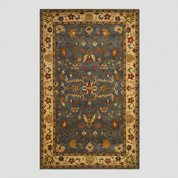 World Market - Blue Oushak Wool Rug - Made in India of 100% wool pile, our Blue Oushak Wool Rug is a timeless design. Easily at home in either a traditional setting or with casual furniture, this simple all-over pattern will provide years of relaxation.