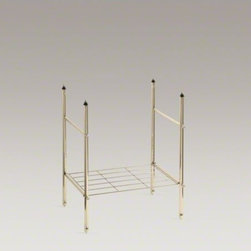 KOHLER - KOHLER Memoirs(R) table legs - Constructed of durable solid brass, the Memoirs table legs are a sophisticated addition to your bathroom design. When paired with a coordinating Memoirs sink, the legs create an attractive and practical vanity complete with a Polished Chrome shelf and sid
