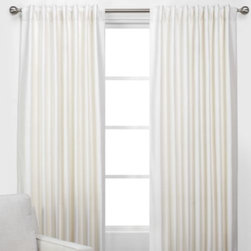 Z Gallerie - Vienna Panels - Dress your windows in layers of sophisticated style with our elegant Vienna Panels. Designed out of richly textured and supremely soft faux dupioni silk, and created exclusively for Z Gallerie, our Vienna Panels offer a lustrous sheen to grace your window. Choose to hang them from a rod pocket opening for a gathered look or from back tabs for perfect refinement. Sold separately, our Vienna Panels are available in eight stunning hues; Emerald, Silver, Gold, Ivory, Sapphire, Jade, Mandarin and Charcoal.