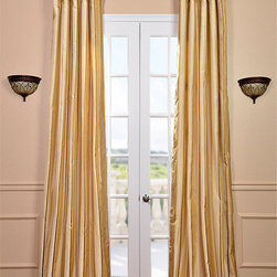Beverly Hills Silk Taffeta Stripe Curtain - Our 100% silk drapes & curtains represent extravagant luxury at unbeatable prices. Our team of designers have worked tirelessly to find the best colors & patterns to make our selection truly the largest in the market today.