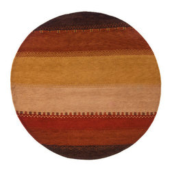 Momeni Rug - Momeni Rug Desert Gabbeh 8' x 8' Round DG-04 Multi DEGABDG-04MTI800R - The Desert Gabbeh Collection is a charming marriage of rich tradition with contemporary colors and patterns. Made in the traditions of the Gabbehs from the foothills of Iran, each rug is hand knotted in India from 100% wool. Rich, warm colors and subtle patterns make the Desert Gabbeh Collection the ideal addition to the modern home.