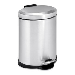"""Honey Can Do - 5L Oval Stainless Steel Step Can - 5L capacityIncludes removable inner bucketCarrying handleEasily wiped clean"""". Includes removable inner bucket. Carrying handle. Easily wiped clean"""