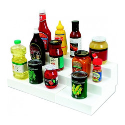 """Dial Industries Inc. - Expand A Shelf - Extra Deep - Its great to have pantry shelves but what do you do when you cant see past the first row? Add the Expanda-shelf. This version is extra deep which means you can use it for larger canned goods such as tomatoes. Three levels allow you to maximize every shelf and its height. Its adjustable for width by simply sliding it open. No tools required. 6.12""""W x 13.5""""D x 11.75""""H"""