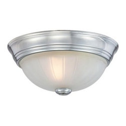 Quoizel Melon ML182 Flush Mount - 10.5W in. - With a flush-mount design that's perfect for a bedroom or hallway, the Quoizel Melon ML182 Flush Mount - 10.5W in. adds a touch of classic style to any home. Available in your choice of finish to suit your decor, this fixture has a white glass shade stamped with the shape of melon wedges. It uses one 75-watt bulb (not included).About Quoizel LightingLocated in Charleston, South Carolina, Quoizel Lighting has been designing timeless lighting fixtures and home accessories since 1930. They offer a distinctive line of over 1,000 styles, including chandeliers, lamps, and hanging pendants. Quoizel Lighting is the perfect way to add an inviting atmosphere to any area in your home, both indoors and out.
