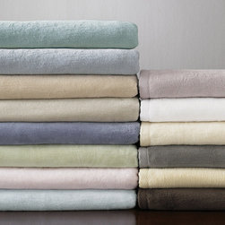 Frontgate - SFERRA St. Moritz Plush Blanket - Soft, cuddly throws are a must for a cozy night by the fire!